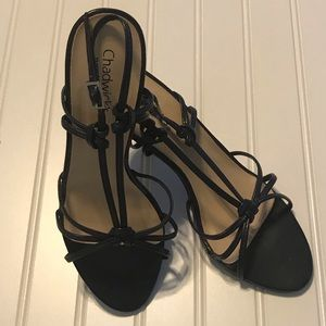 Chadwicks Navy Blue Strappy Heels Size 8